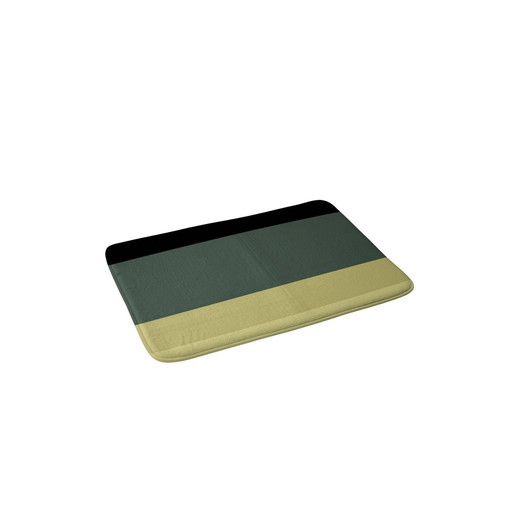 Color Poems Contemporary Color Block Memory Foam Bath Mat Green - Deny Designs from Deny Designs