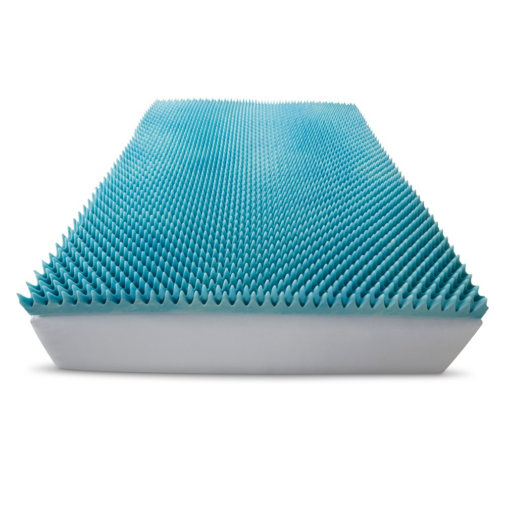 "ComforPedic Loft from Beautyrest 3"" Gel Textured Memory Foam Topper - White (King) from Beautyrest"