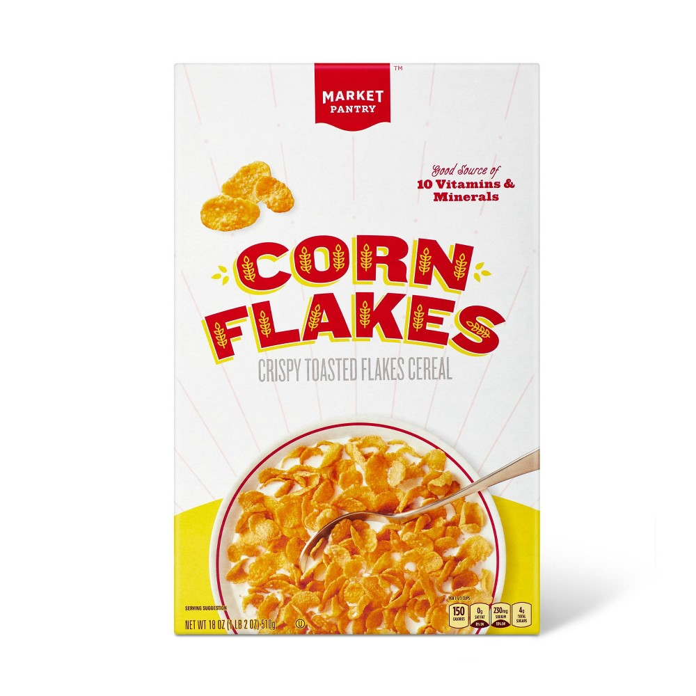 Corn Flakes Breakfast Cereal - 18oz - Market Pantry from Market Pantry
