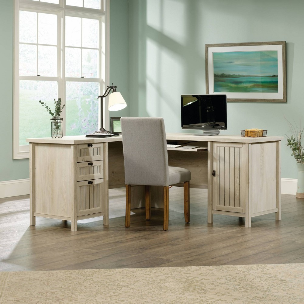 Costa L Desk Chalked Chestnut - Sauder from Sauder