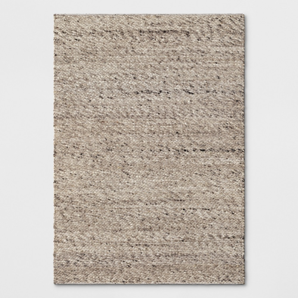 5'X7' Chunky Knit Wool Woven Rug Cream - Project 62 from Project 62