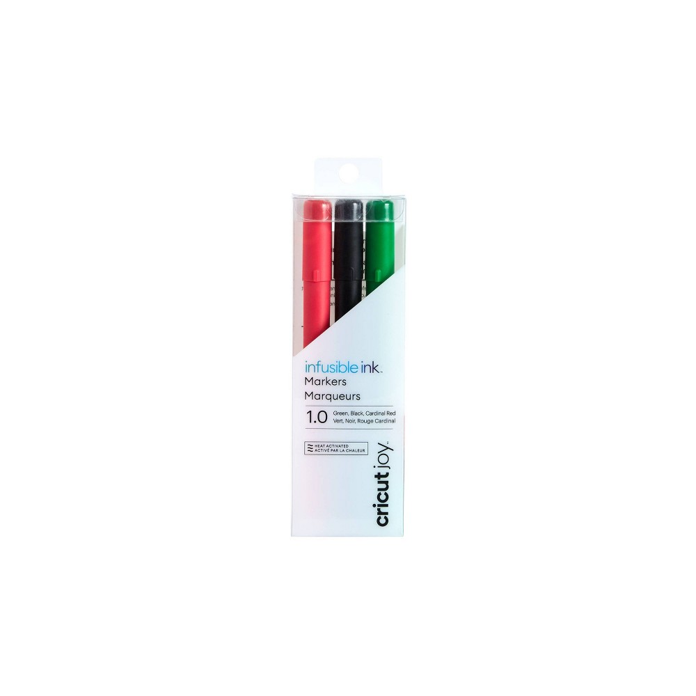 Cricut Joy 3pk Infusible Ink Markers Black/Red/Green from Cricut