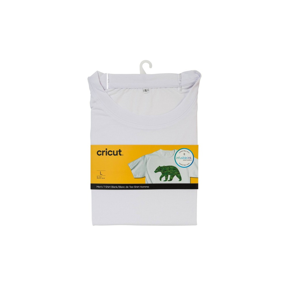 Cricut Round Neck T-Shirt White - Large from Cricut