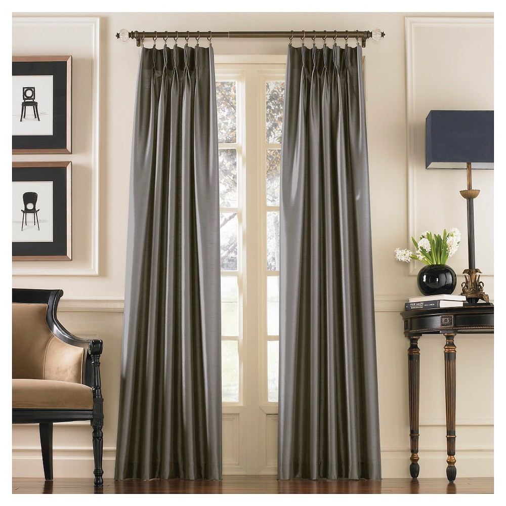 "95""x30"" Marquee Lined Curtain Panel Gray - Curtainworks"