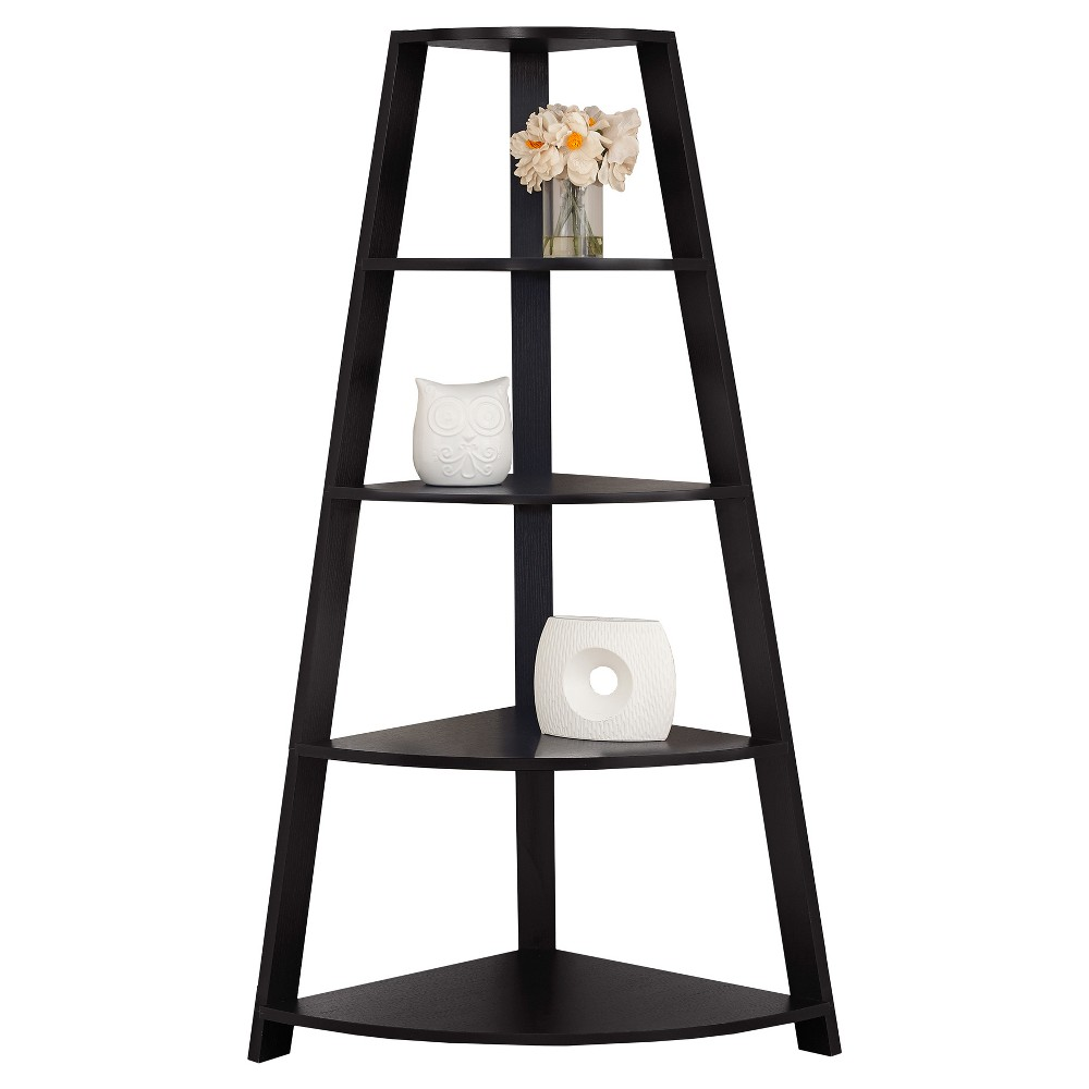 "60"" Bookcase Corner Accent Etagere Cappuccino - EveryRoom from EveryRoom"