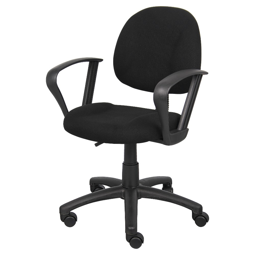 Deluxe Posture Chair with Loop Arms Black - Boss Office Products from Boss Office Products