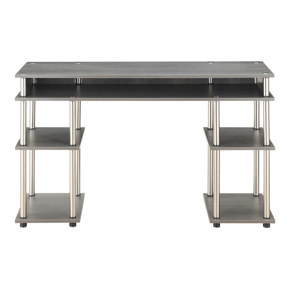 No Tools Student Desk Charcoal Gray - Breighton Home from Breighton Home