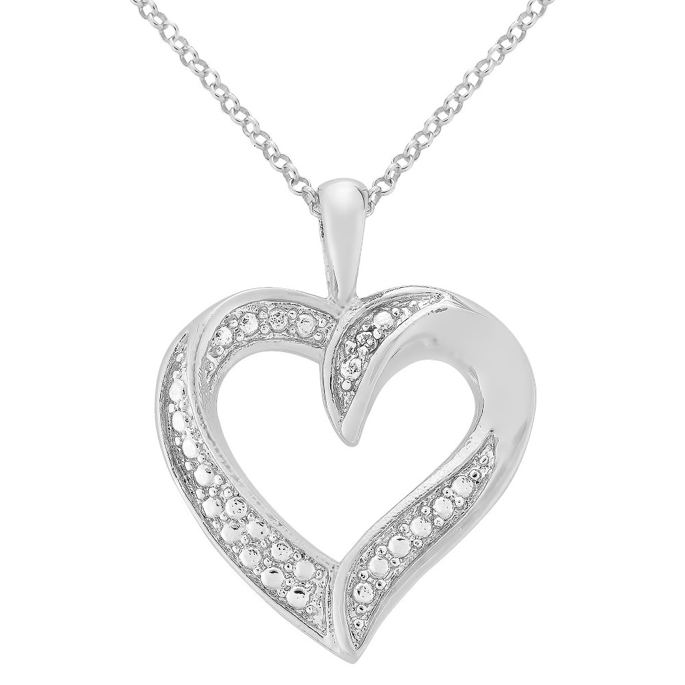 Diamond Accent Heart Pendant in Gold Plated Brass (IJ-I2-I3) from Distributed by Target