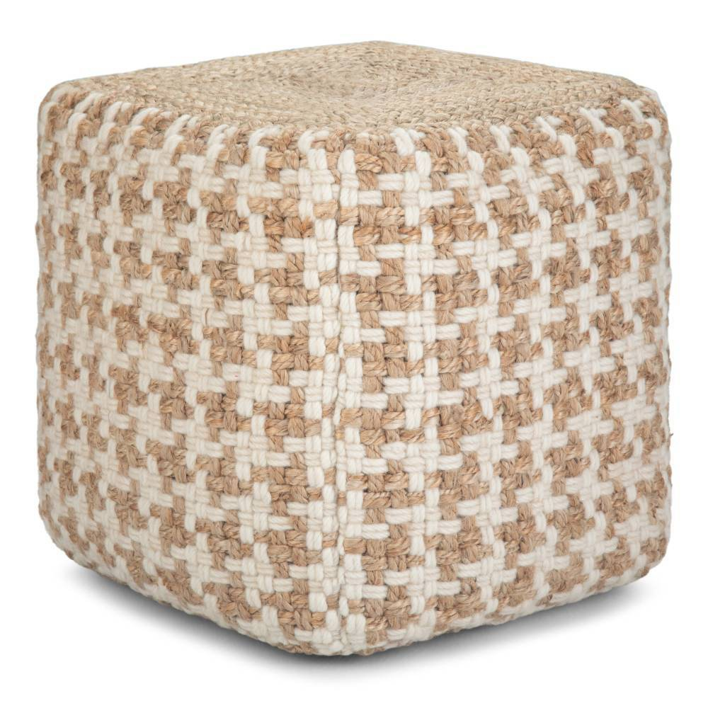 Digby Cube Pouf Natural - Wyndenhal from WyndenHall