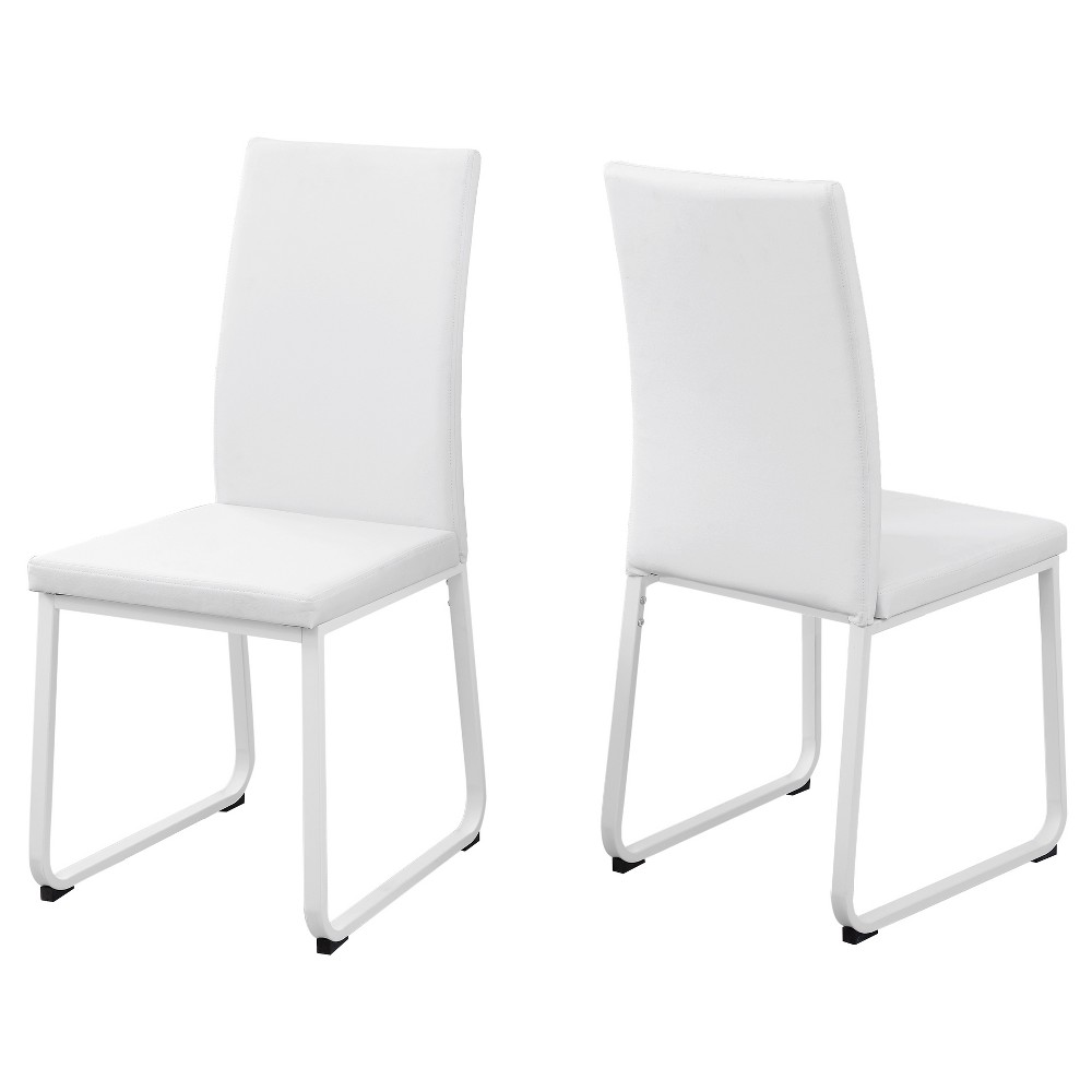 2pc Dining Chair Leather White - EveryRoom from EveryRoom