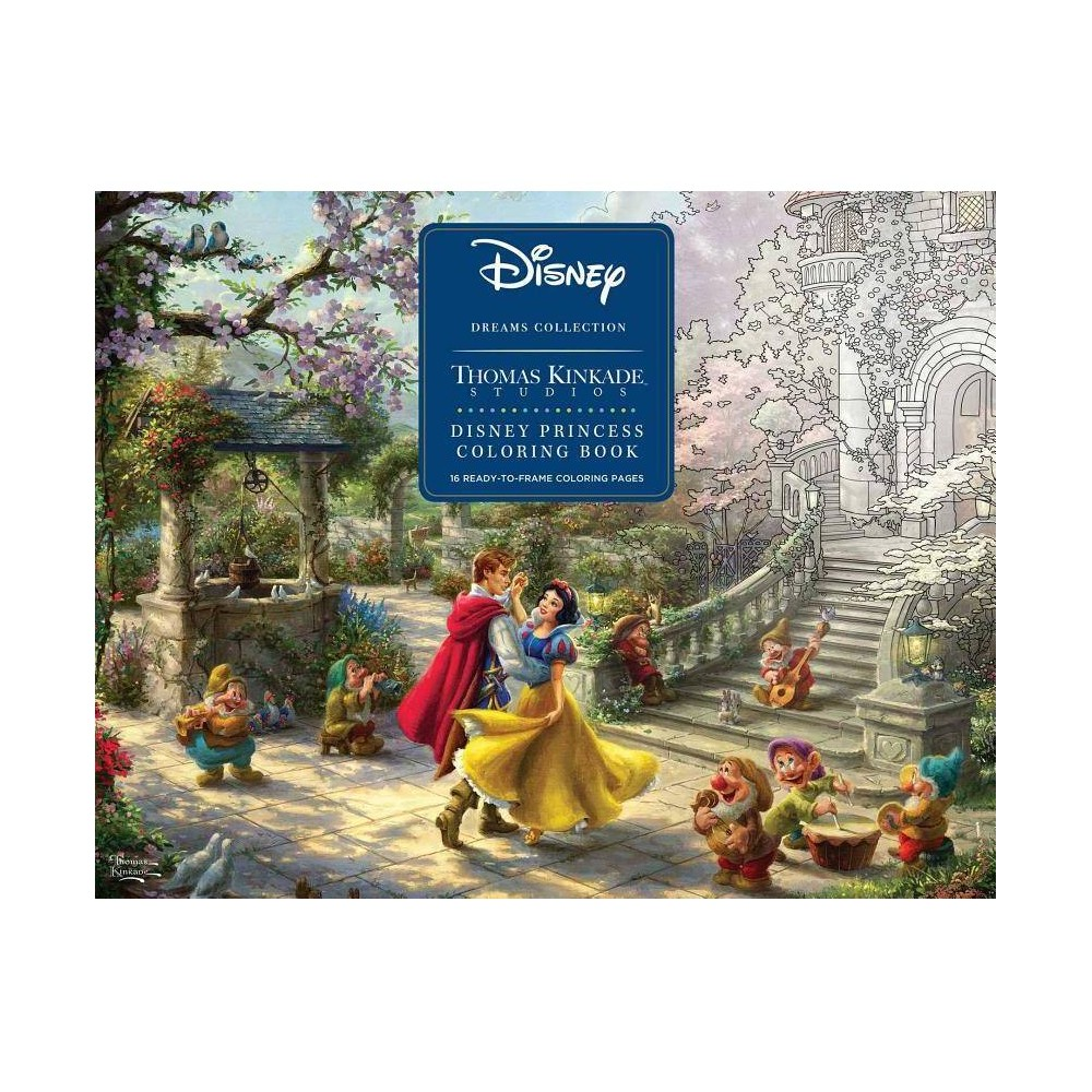 Disney Dreams Collection Thomas Kinkade Studios Disney Princess Coloring Poster - (Paperback) from Disney Princess