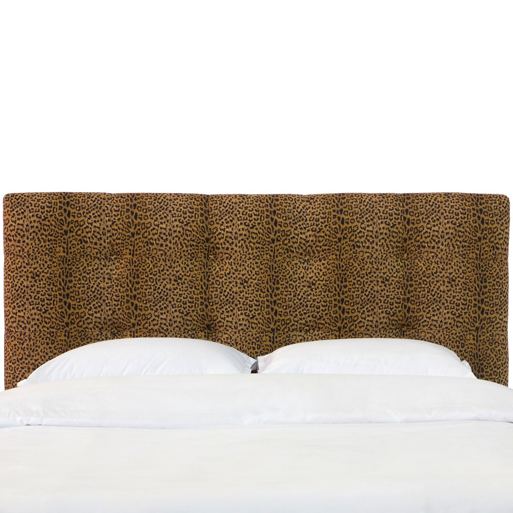 California King Dolce Patterned Headboard Cheetah Earth - Skyline Furniture from Skyline Furniture