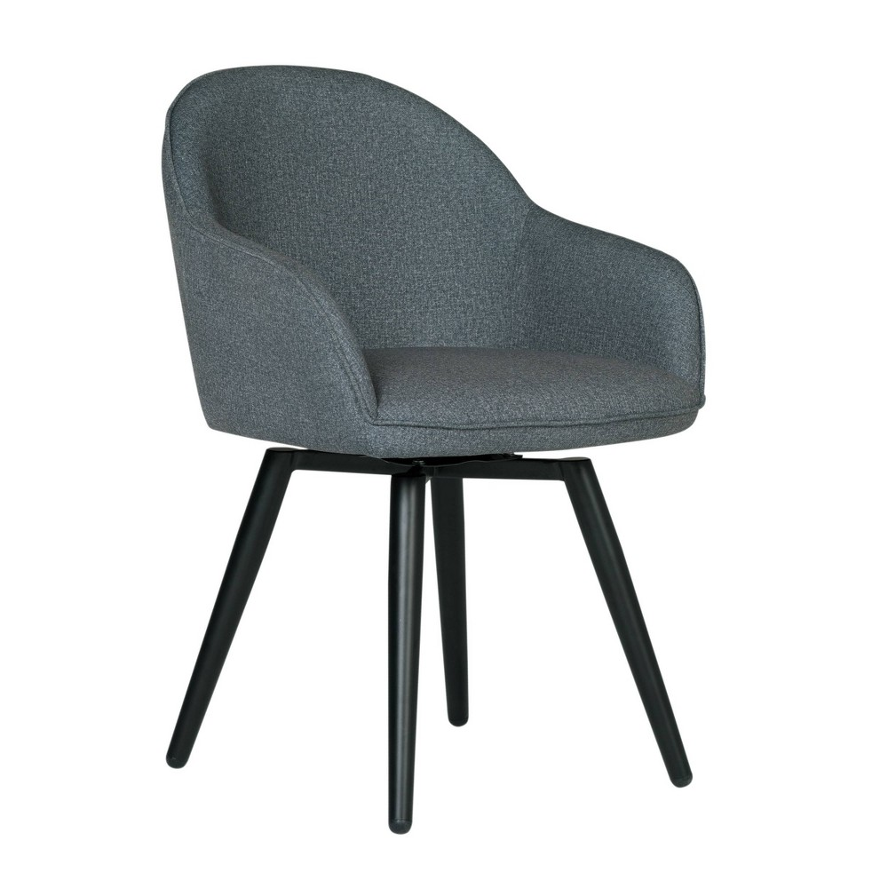 Dome Swivel Arm Chair Charcoal Heather - Studio Designs Home
