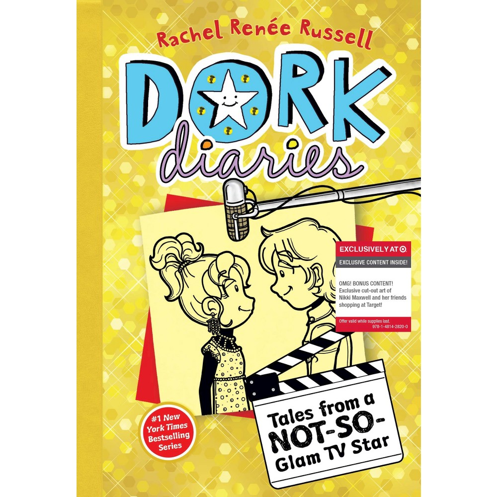 Dork Diaries 7: Tales from a Not-So-Glam TV Star (Only at Target) (Exclusive cut-out art included!) by Rachel Renee Russell (Paperback) from Simon & Schuster