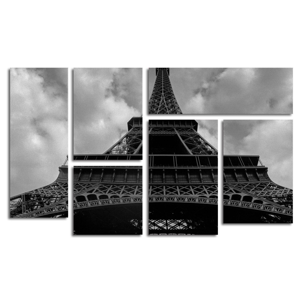 6pc Eiffel I by Moises Levy - Trademark Fine Art from Trademark Global