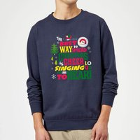 Elf Christmas Cheer Christmas Sweatshirt - Navy - XL - Navy from Elf