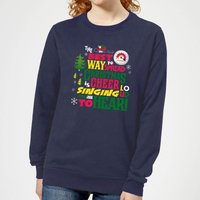 Elf Christmas Cheer Women's Christmas Sweatshirt - Navy - M - Navy from Elf