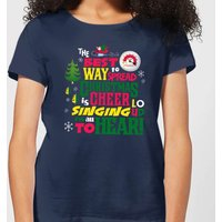 Elf Christmas Cheer Women's Christmas T-Shirt - Navy - L - Navy from Elf