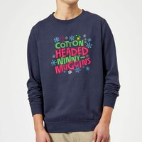Elf Cotton-Headed Ninny-Muggins Christmas Sweatshirt - Navy - XXL - Navy from Elf