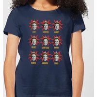 Elf Faces Women's Christmas T-Shirt - Navy - XL - Navy from Elf
