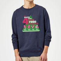 Elf Food Groups Christmas Sweatshirt - Navy - L - Navy from Elf