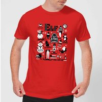 Elf Men's Christmas T-Shirt - Red - L - Red from Elf