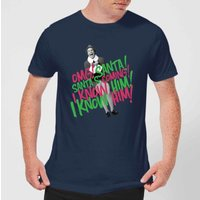 Elf Santa! I Know Him! Men's Christmas T-Shirt - Navy - S - Navy from Elf