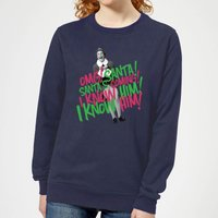 Elf Santa! I Know Him! Women's Christmas Sweatshirt - Navy - XXL - Navy from Elf