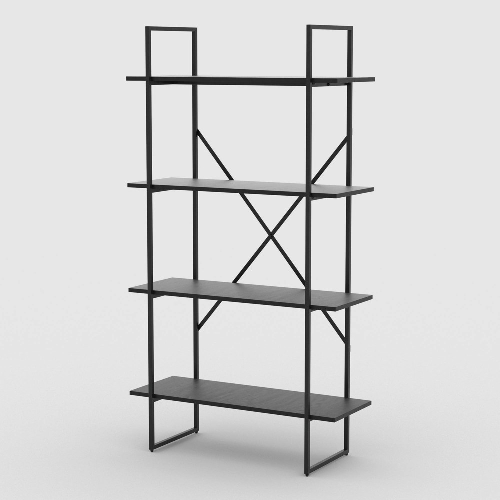 "65"" Emery 4 Tier Shelf Exposed Bookshelf Black - RST Brands from RST Brands"