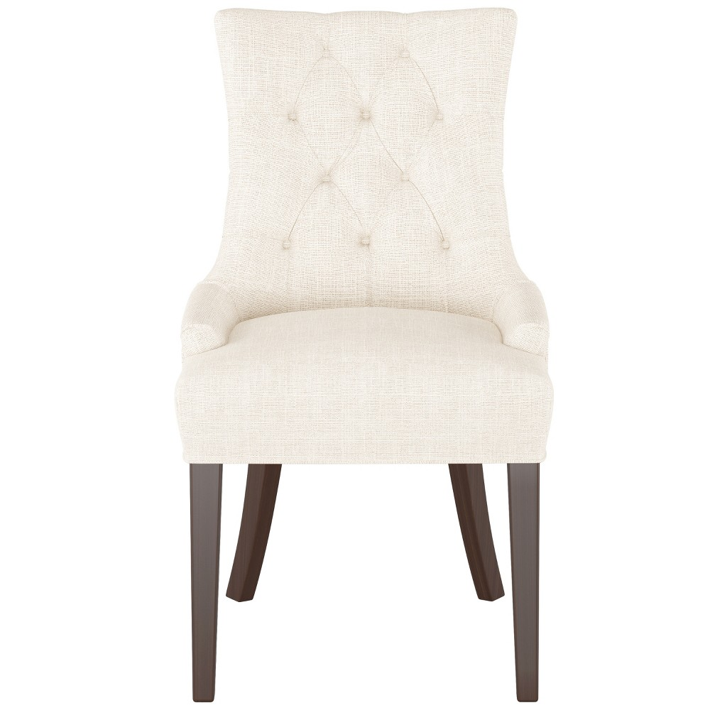 English Arm Dining Chair Off White Linen - Threshold from Threshold