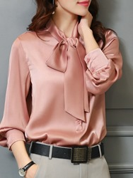 Ericdress Bowknot Plain Regular Standard Blouse