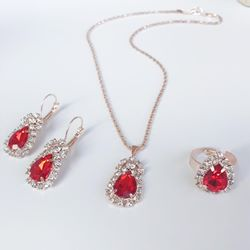 Ericdress Gemmed Necklace European Jewelry Sets