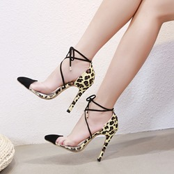 Ericdress Leopard Print Stiletto Heel Pointed Toe Womens Pumps