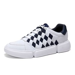 Ericdress Low-Cut Upper Patchwork Lace-Up Mens Skate Shoes