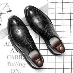 83b7cf3baf796 Ericdress Plain Hollow Pointed Toe Mens Shoes