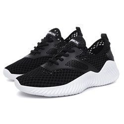 Ericdress Plain Mesh Lace-Up Mens Summer Sneakers