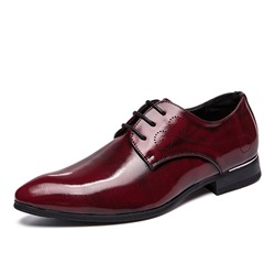 35c99db3fe3a0 Ericdress Plain Round Toe Lace-Up Mens Dress Shoes