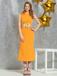 Ericdress Sheath Tea-Length Homecoming Dress 2019