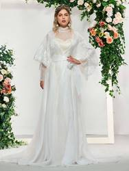 Ericdress Vintage High Neck Lace Mermaid Wedding Dress 2019