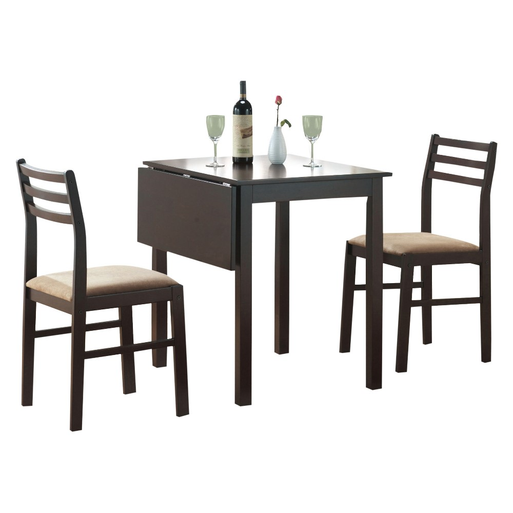 3pc Set Dining Table and Chair Cappuccino - EveryRoom from EveryRoom