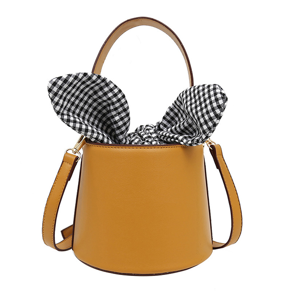 Faux Leather Cute Rabbit Ears Bucket Bag Crossody Bag For Women