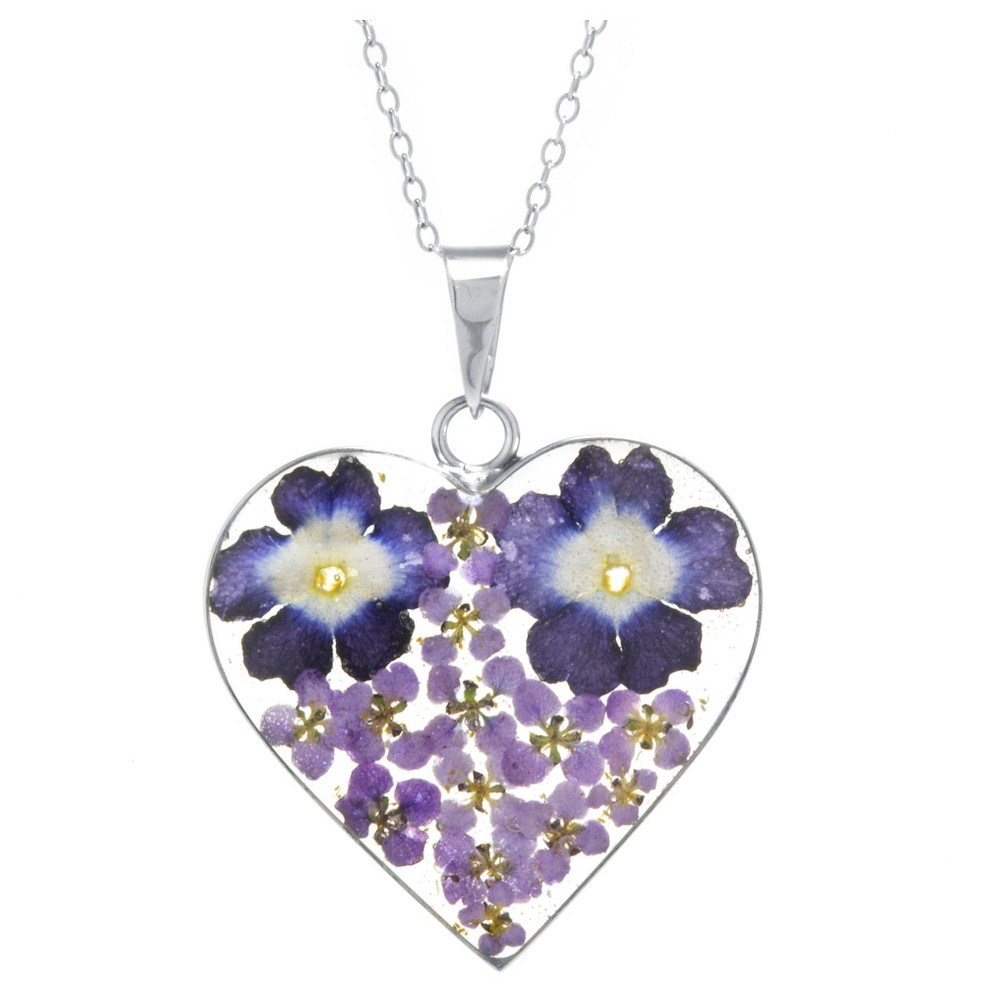 Fine Jewelry Necklace, Purple/purple/Silver from Distributed by Target