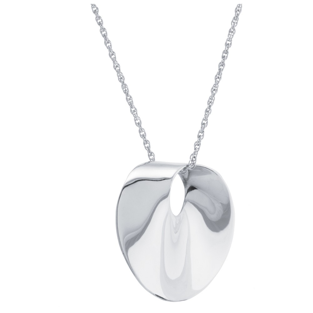 "Women's Sterling Silver Twist Medallion Pendant (18"") from Distributed by Target"