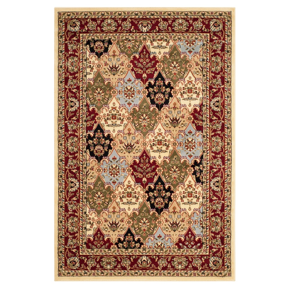 "Red Floral Loomed Accent Rug 3'3""X5'3"" - Safavieh from Safavieh"
