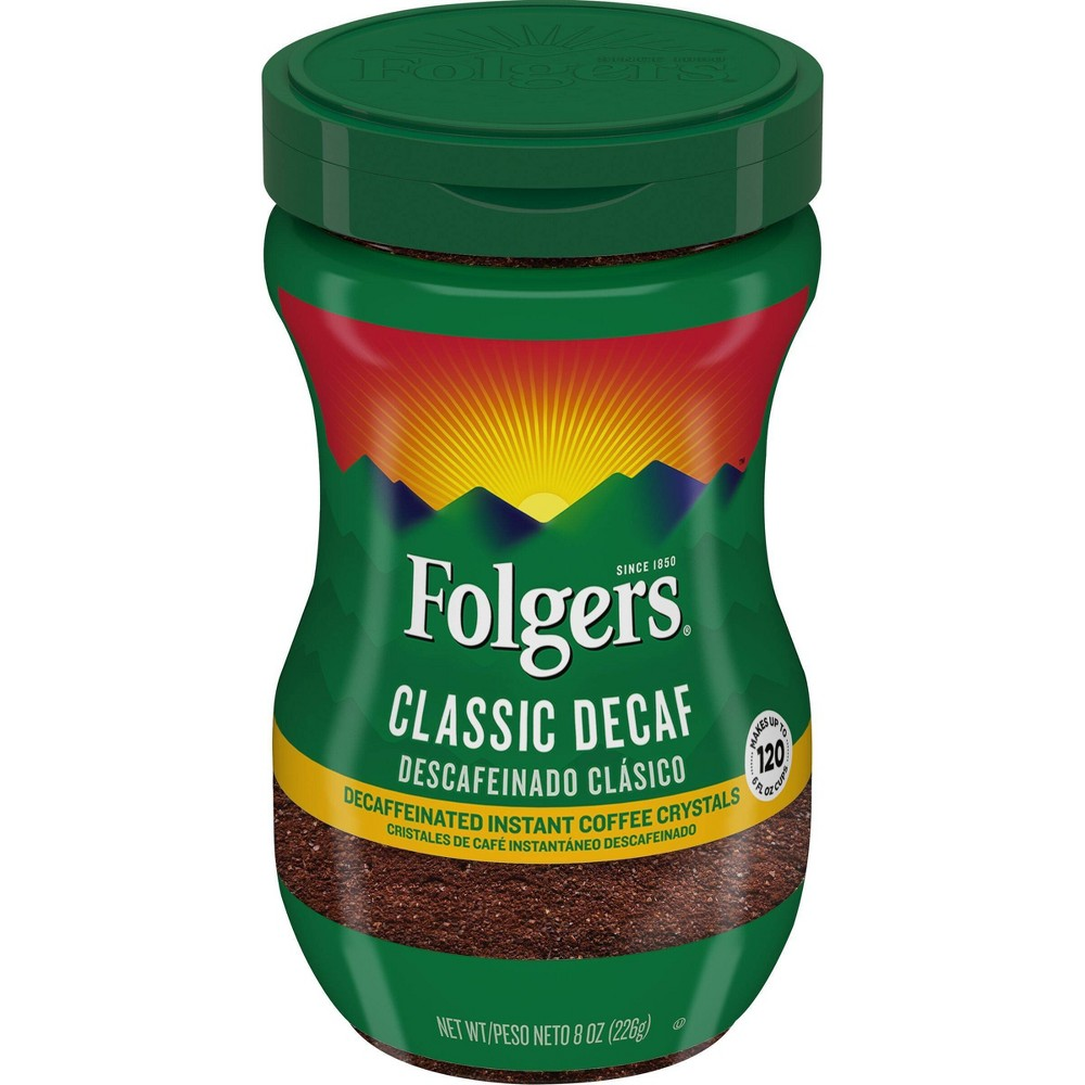 Folgers Classic Medium Roast Instant Coffee - Decaf - 8oz from Folgers