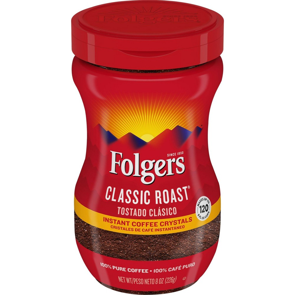 Folgers Classic Medium Roast Instant Coffee - 8oz from Folgers