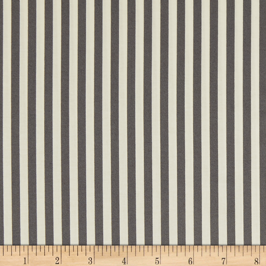 Freespirit Dream Cottage Candy Stripe Silver Fabric