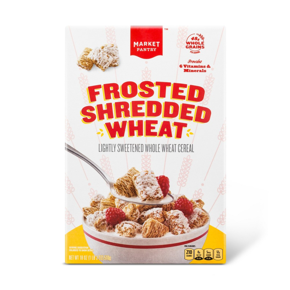 Frosted Shredded Wheat Breakfast Cereal - 18oz - Market Pantry from Market Pantry