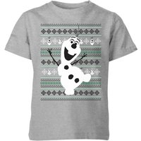 Frozen Olaf Dancing Kids' Christmas T-Shirt - Grey - 11-12 Years - Grey from frozen