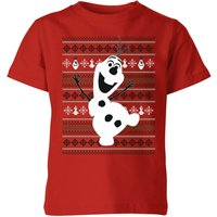 Frozen Olaf Dancing Kids' Christmas T-Shirt - Red - 3-4 Years - Red from frozen
